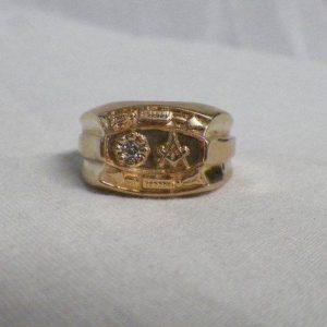 Wedding Style Masonic Ring