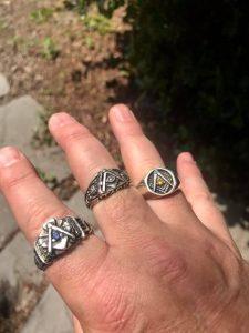Hand Full Of Masonic Rings