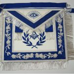 Blue and White Deluxe Master Mason Apron