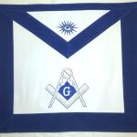 Blue and White Simple Master Mason Apron